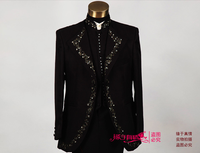 Multicolor High Quality Men's Wedding Suit or Stage Host Clothing Singer or Host's Clothing