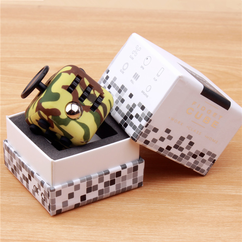 MAGIC FIDGET CUBES TOYS FOR ANTISTRESS DICE RELIEVES ANXIETY STRESS FOCUS ANTI-IRRITABILITY CUBE fidget cube fidget toys for kids cubo magico 4x4x4 speed cube hand spinner twist gifts mini plastic magic cube puzzle 502062