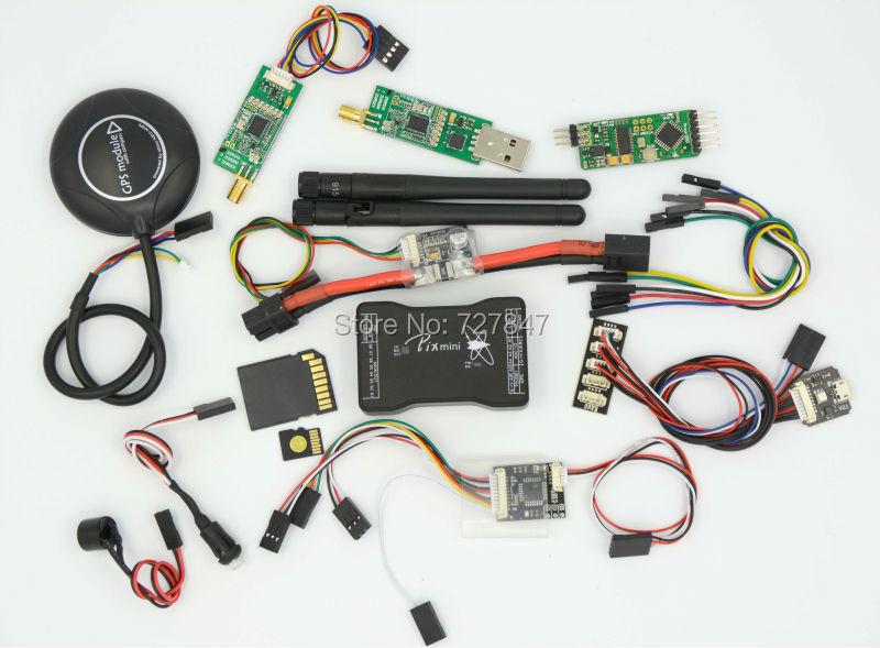 Mini Pixhawk Flight Control 32bit Pixhawk2.4.6 w/SD Card /Safety Switch/Buzzer/RGB/PPM/I2C/PM/OSD /433 Telemetry/M8N GPS pixhawk px4 uav flight control suite m8n gps digital osd 3 w led