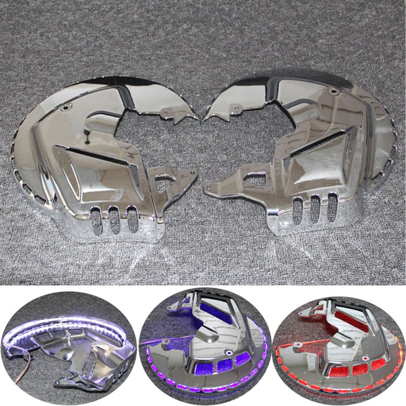 Motorcycle Brake Rotor Covers LED Ring Of Fire for Honda GOLDWING GL1800 2001-2014 F6B 2013-2015Motorcycle Brake Rotor Covers LED Ring Of Fire for Honda GOLDWING GL1800 2001-2014 F6B 2013-2015