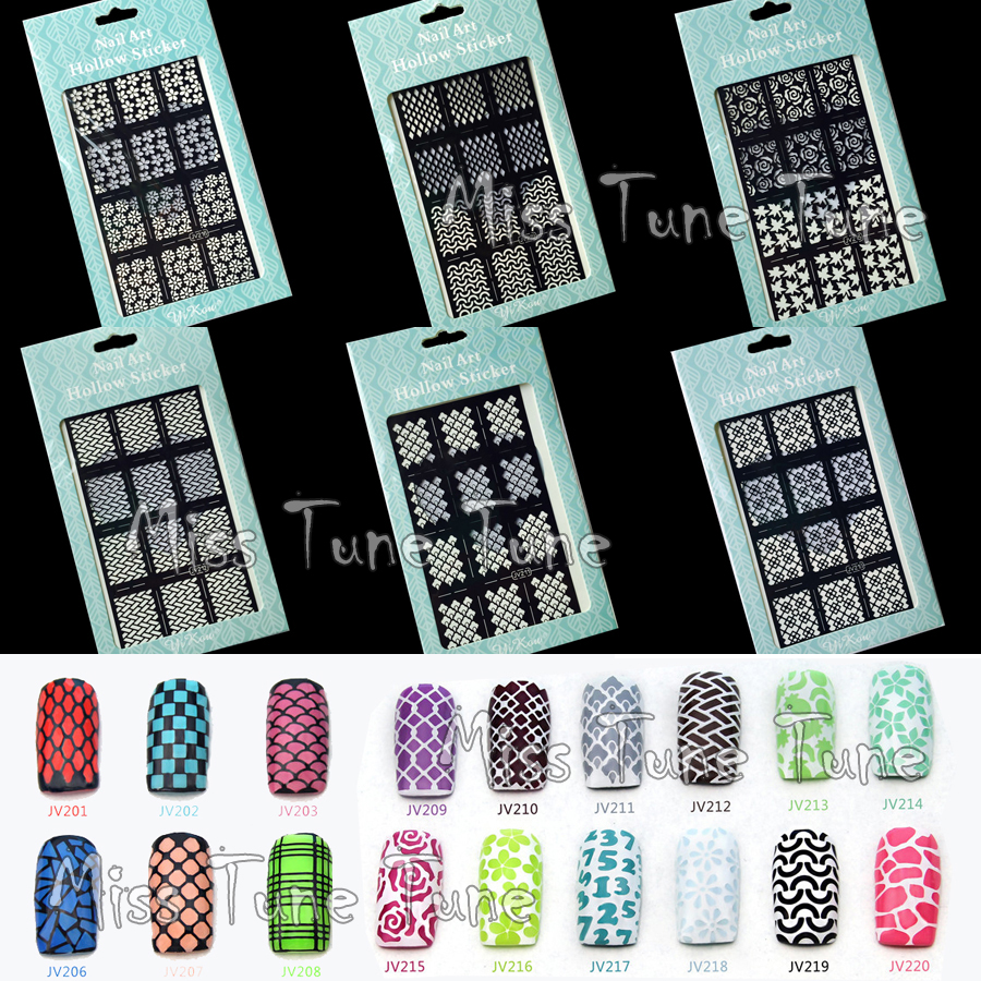 New Easy Use Nail Art Sting Stencils Template Tips Vinyls Guides Design Stickers Recycle In Hair Clips Pins From Beauty Health On Aliexpress