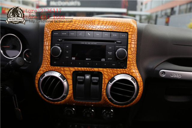 Car Control Panel Crocodile Python Pattern Sticker For Jeep Wrangler