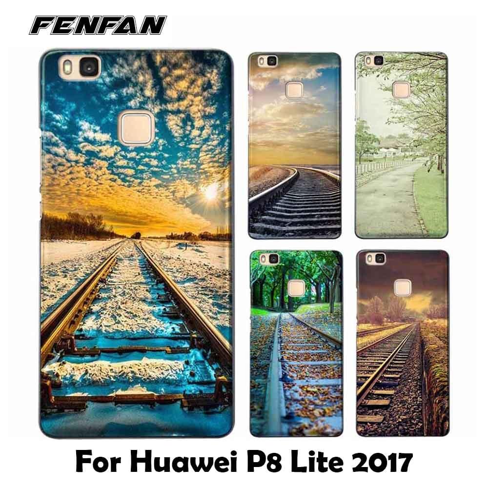 For coque Huawei P8 lite 2017 case Railway scene Soft TPU for fundas Huawei honor 6X case nwe arrivals for Huawei honor 7X case