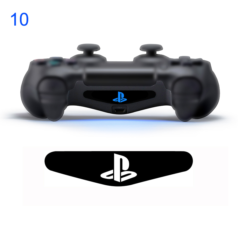 50 pcs Custom  number 10 Of Light Bar Decal Led Skin For Playstation PS4 Controller  Sticker