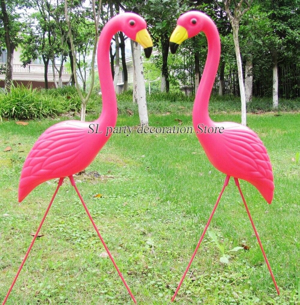 1pair plastic pink flamingo garden yard and lawn art ornament ...