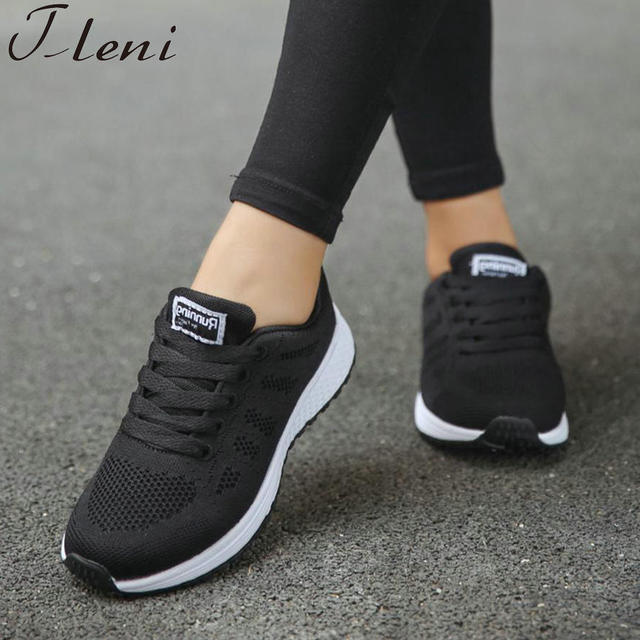 81aa66e74923 Tleni 2018 Sport shoes woman Air cushion Running shoes for women Outdoor  Spring Sneakers women Walking Jogging Trainers ZX-235