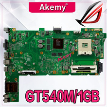 Akemy N73SV Материнская плата ноутбука REV.2.0 для ASUS N73SV N73SM N73S PGA989 3 Разъем для карты памяти с GT540M/1 ГБ Графический DDR3 полный тест