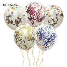 ФОТО 5pcs latex helium confetti balloon air for wedding happy birthday party decorations adult kids baby shower event party supplies