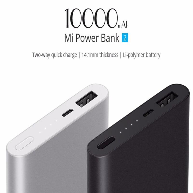 Portable Externe BatteryMi PowerBank 10000 mah avec Li-polymère Batterie Power Bank pour téléphone chargeur 5 w Batterie Puissance chargeur