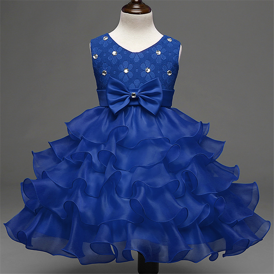 Summer Kids Girls Children Dresses Lace Baby Girl Kids Clothes For Party Toddler Girl Dress Casual Chiffon Tutu Dress XD23-C simyke girls summer dresses 2017 new toddler girl daisy appliques dress kids clothing dress for baby girl children clothes w8186