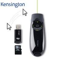 Kensington Беспроводной Ведущий дистанционного зеленый лазер ручка ведущий с воздуха Мышь курсор Управление 8 ГБ памяти для PPT Keynote k72427