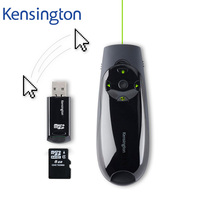 Kensington Wireless Presenter Remote Green Laser Pen Presenter with Air Mouse Cursor Control 8GB Memory for PPT Keynote K72427