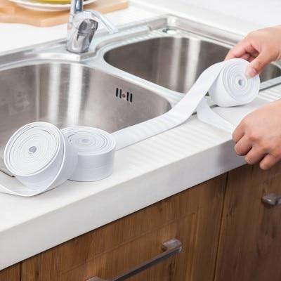 LOVE COSY Kitchen Tape Corner Stickers Bathroom Sinks Wall Sealing ...