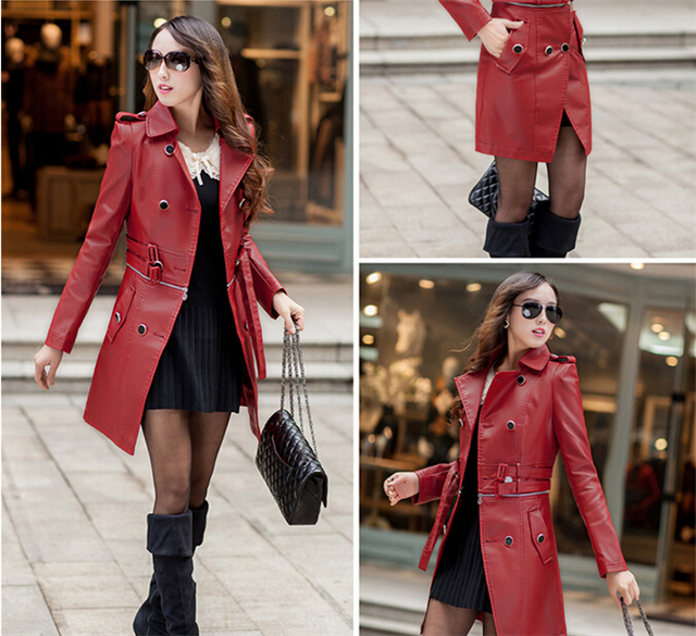 Collection Long Leather Coat Womens Pictures - Reikian