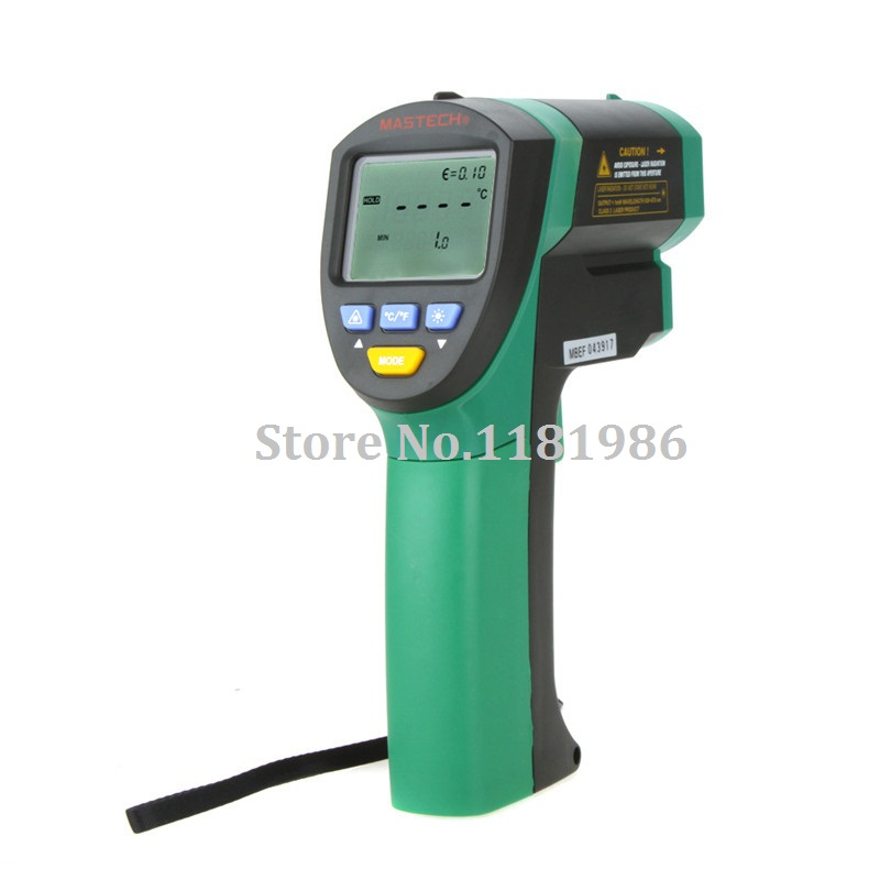 MASTECH MS6550A Non-contact Infrared Thermometer IR Temperature Tester -32C to 1200C (-25F to 2192F) 50:1(D:S)