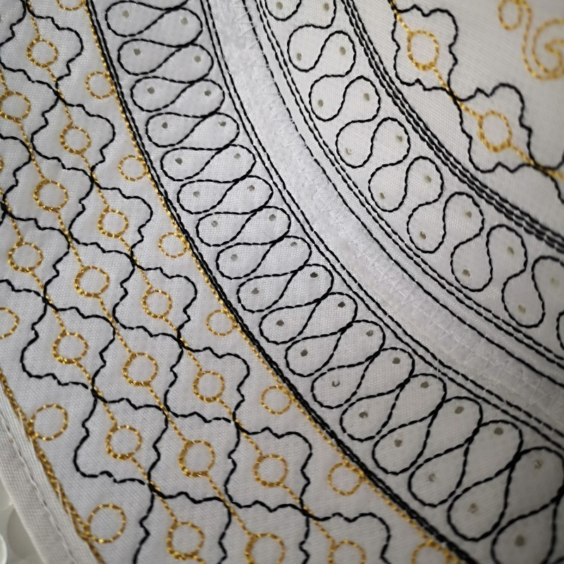 Image 4 - Men Islam Prayer Hats High Quality Embroidered Caps Islamic Kufi  Topi Kippot Kippa Muslim Turkish Namaz Egyptian Mens Head HatsIslamic  Clothing