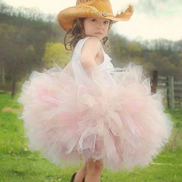 Princess Tutu Hot Sale Fluffy Ball Gown Skirt Childs Knee Length Puffy Bow Pettiskirt