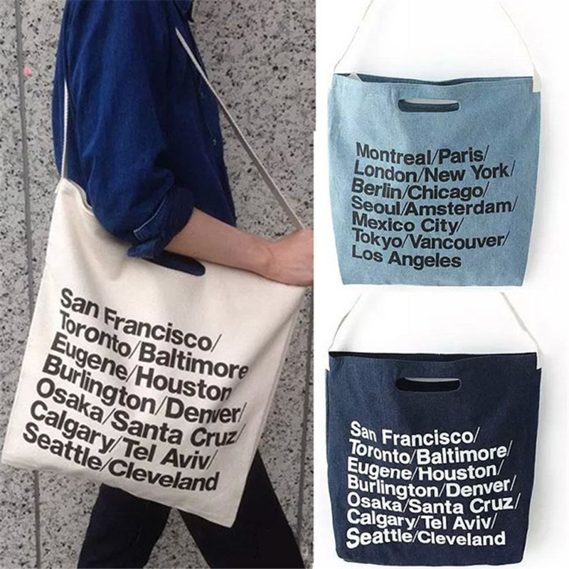 45ce4e9f1df New Fashion vintage American Apparel woven cotton city bag with strap  canvas letter cowboy Shopping Bag 640818 on Aliexpress.com | Alibaba Group