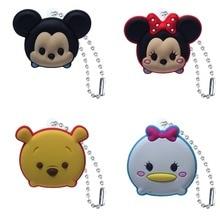 1pcs PVC Keychain Cartoon Figure Metal Ball Chain Key chain Kids Christmas Gift Fashion Charms Trinket
