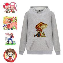 Mario Bros/Super Cartoon Printed Pattern Ins Fashion Harajuku Style Casual Unisex Hooded Sweatshirt A193161