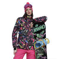 Gsou cheap colorful snowboard jacket women winter ski jackets brands female snow wear mountain skiing clothes