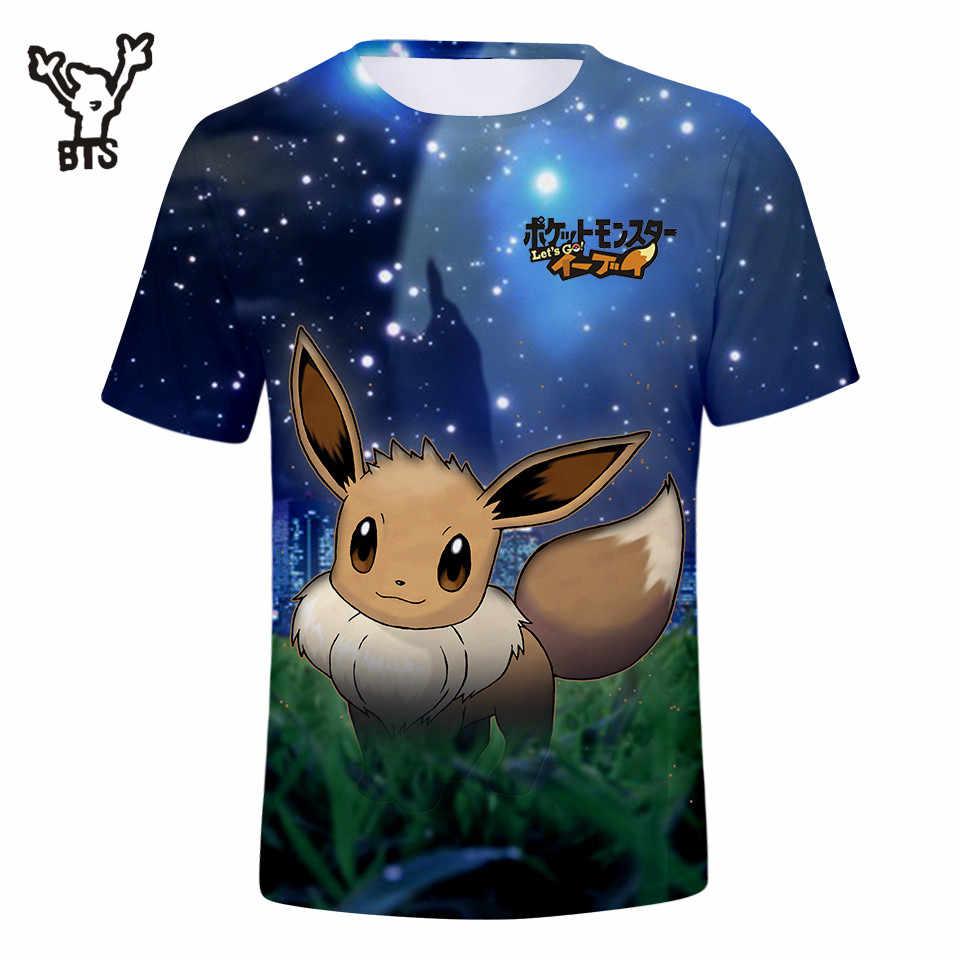 5014e0f84dc9 ... BTS Pokemon 3D Fashion Cool Print Pikachu Tshirt Firedragon Women Men  Sexy Popular Funny T ...