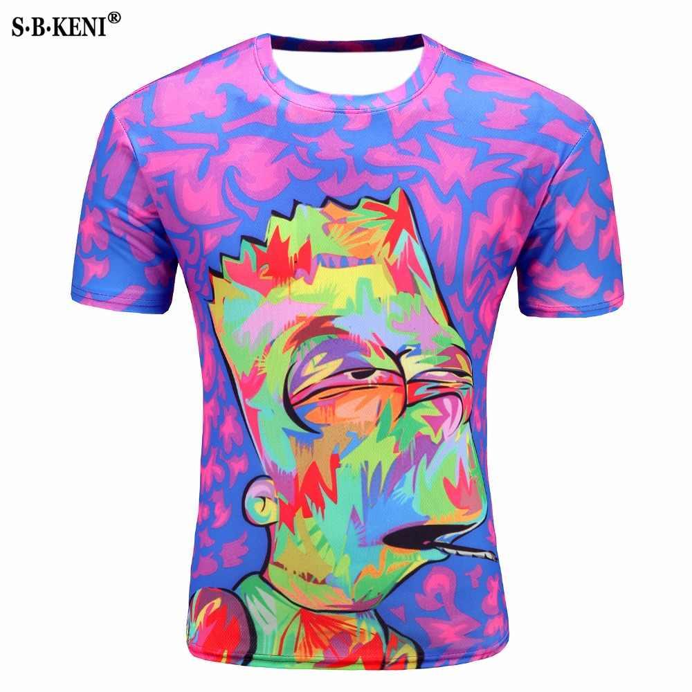 2019 летняя новая модная футболка с черепами Мужская Повседневная 3d футболка рубашка с коротким рукавом Забавный принт много черепа Мужская рубашка