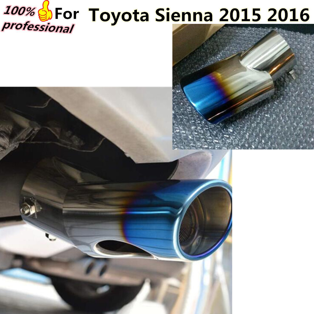 High Quality car Styling muffler exterior end pipe dedicate stainless steel exhaust tip tail outlet for Toyota Sienna 2015 2016 stylish stainless steel car exhaust pipe muffler tip for santana toyota mazda chery more
