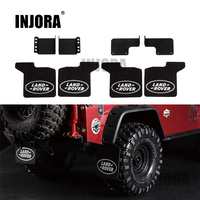 INJORA TRX4 Front Rear Mud Flaps Rubber Fender With Logo For 1 10 RC Crawler Traxxas