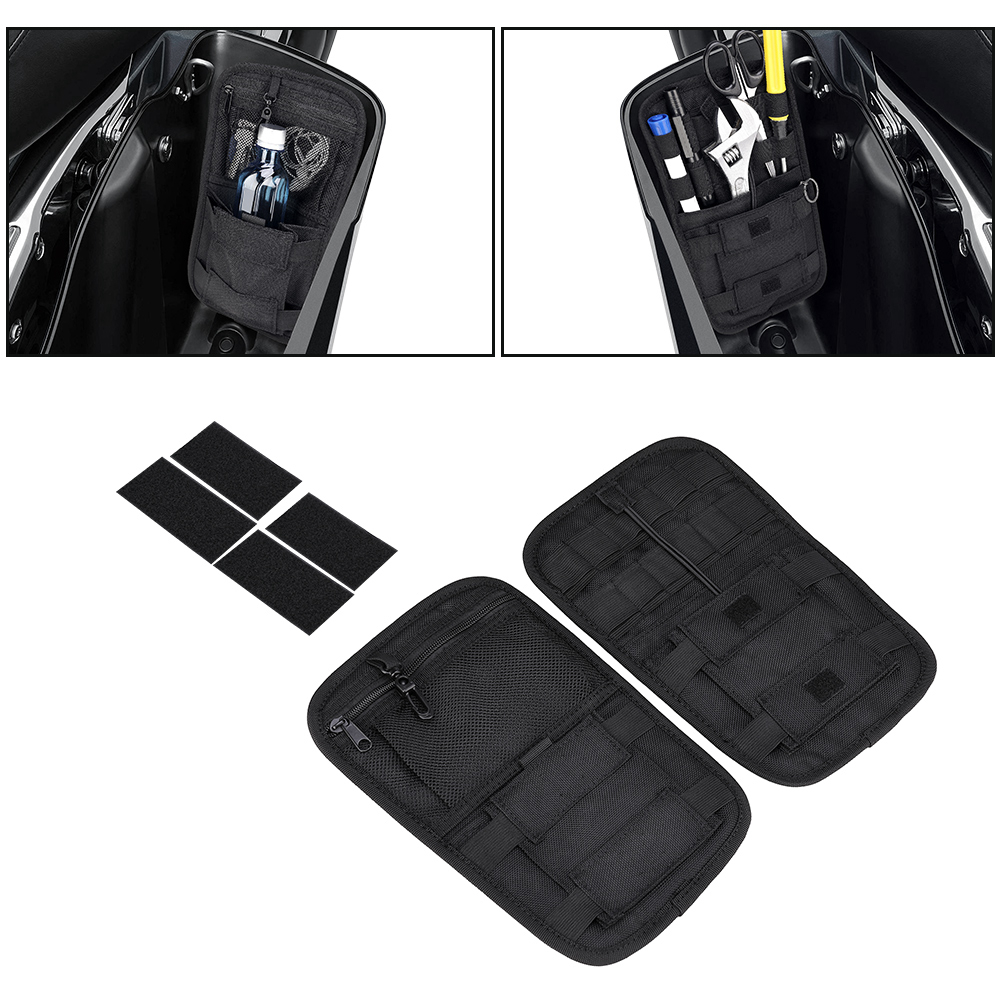 Motorcycle Saddlebag Organizer Hard Bags For Cruiser For Softail Touring Road King Street For Electra Glide Storage Case
