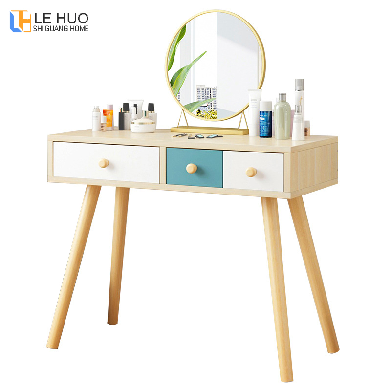 Dressers Wooden Dressing table With drawer cosmetic organizer Storage cabinet Simple fashion Computer Desk bedroom FurnitureDressers Wooden Dressing table With drawer cosmetic organizer Storage cabinet Simple fashion Computer Desk bedroom Furniture