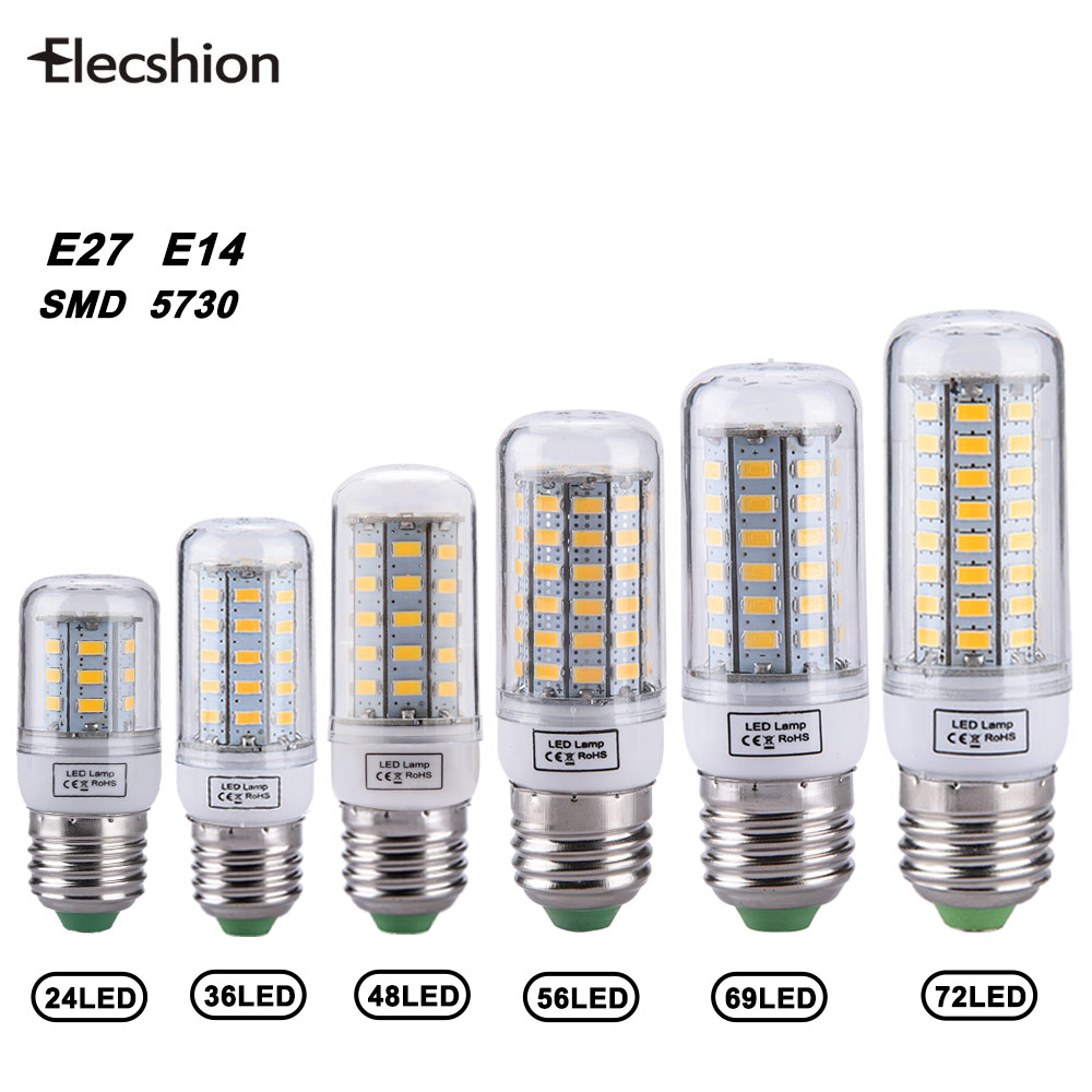 Elecshion Lights & Lighting Led E27 E14 Corn AC220V Bulbs Tubes Spotlight Ultraviolet Lamp Kitchen Fixtures Bathroom For Home energy efficient 7w e27 3014smd 72led corn bulbs led lamps