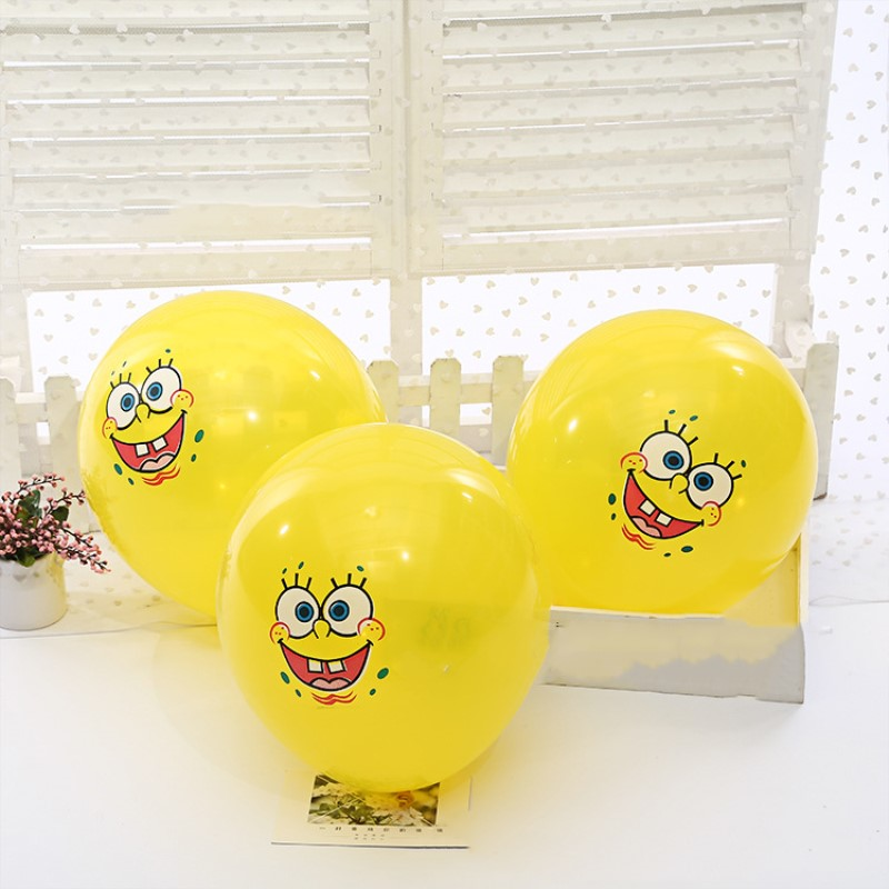 12 inch Sponge Bob Latex Balloons Wedding decorations air inflatble Balls toys k