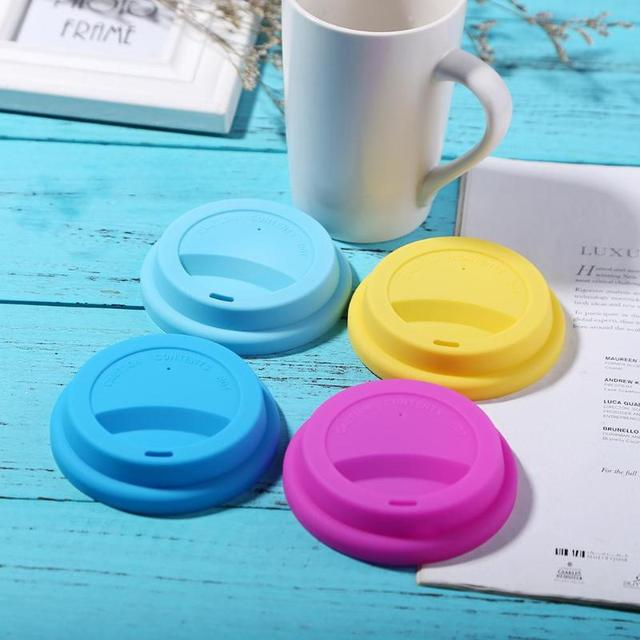 Thick Silicone Cup Lid Reusable Anti-dust Leakproof Silicone Lids for Coffee Tea Cup Cover Insulation Cup Seal Cover Accessories 1