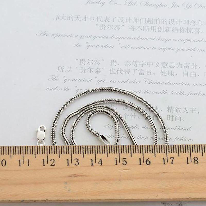 Cadena de collar de plata esterlina 925 pura real para mujeres y - Bisutería - foto 4