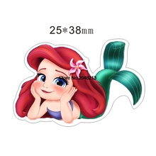 50pcs Cartoon Little princess Mermaid Flatback Resin Planar Cabochon for DIY Craft Embellishments 25*38mm RET1550
