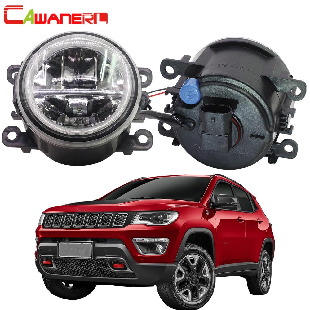 Cawanerl Car H11 4000LM LED Lamp Fog Light Angel Eye DRL Daytime Running Light 12V For