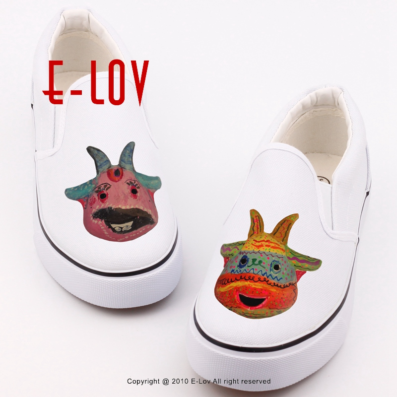 E-LOV Design Halloween Pumpkins Canvas Shoes Printed Halloween Monster Ghost Casual Leisure Shoes Unisex Flat Loafers e lov women casual walking shoes graffiti aries horoscope canvas shoe low top flat oxford shoes for couples lovers