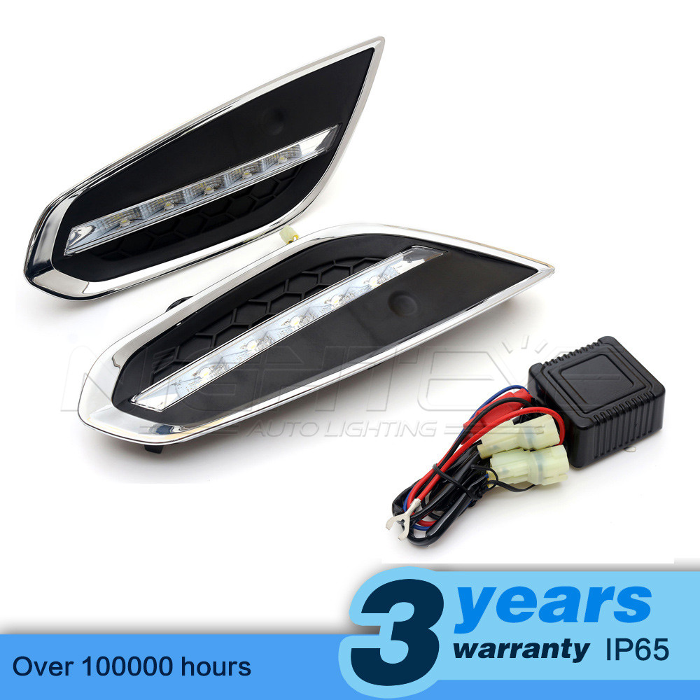 High Quality Car-special LED Daytime Running Light for VOLVO S60 2014 DRL D15 new daytime running light car auto led drl daylight driving fog lamp white for volvo s60 2014