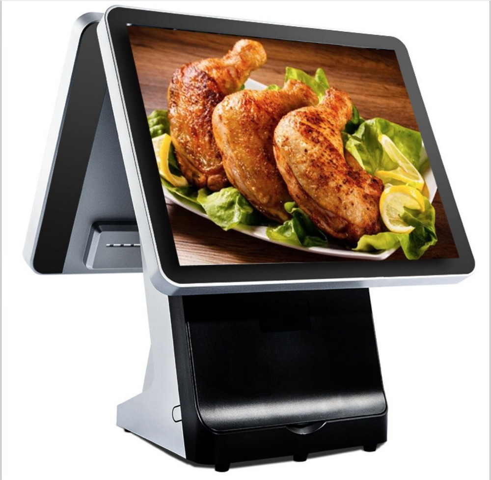 15 Inch Supermarket Touch Pos System With Barcode Scanner And Scale