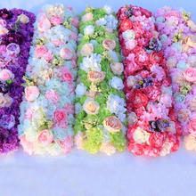 Artificial Flowers Wall Wedding Background Lawn/pillar 1m Arched Flower Road Lead Home Market T Stage Decoration Pink Wreath