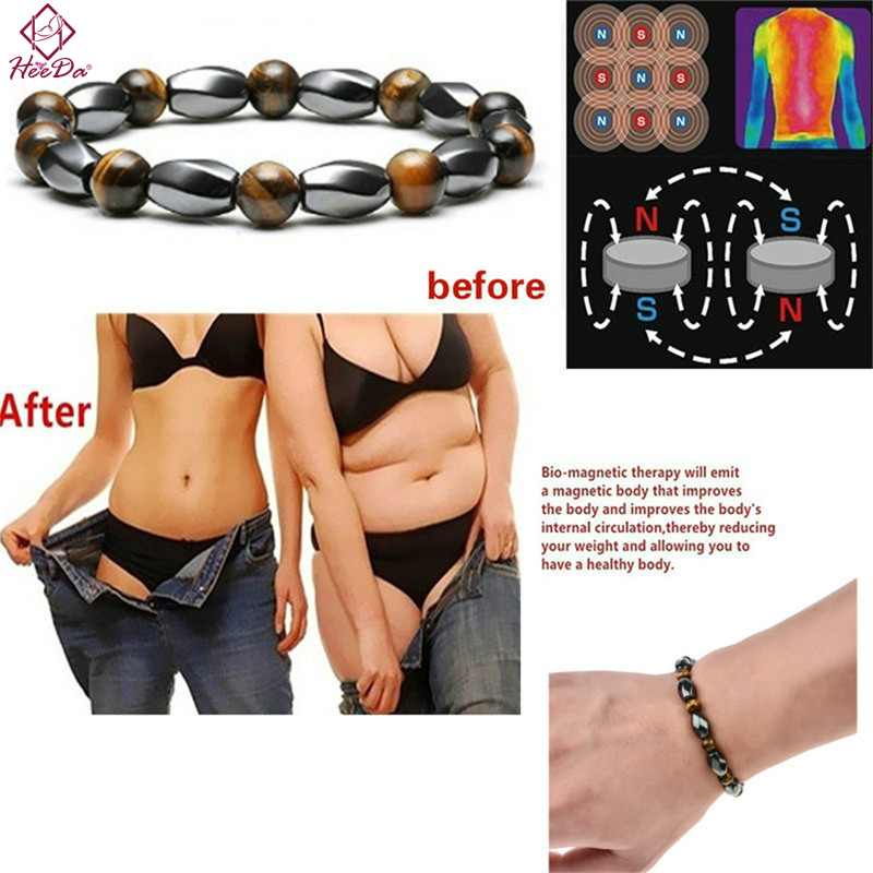 Hematite Stone Weight Loss Anklet Bracelet Healthy Slimming Anklet Lady Gut