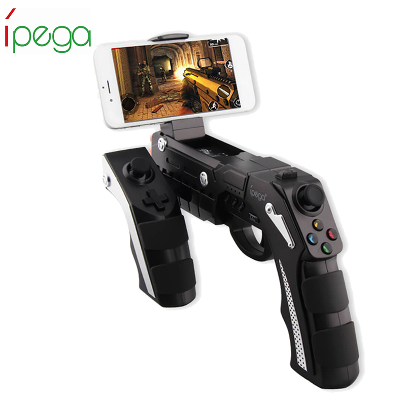 iPega PG 9057 Wireless Bluetooth Game Gun Controller Joysticker Gamepad for Android iOS Smartphone Tablet PC or Smart TV Box ipega pg 9021 pg 9021 wireless bluetooth gaming game controller gamepad gamecube joystick for android phone tablet pc laptop