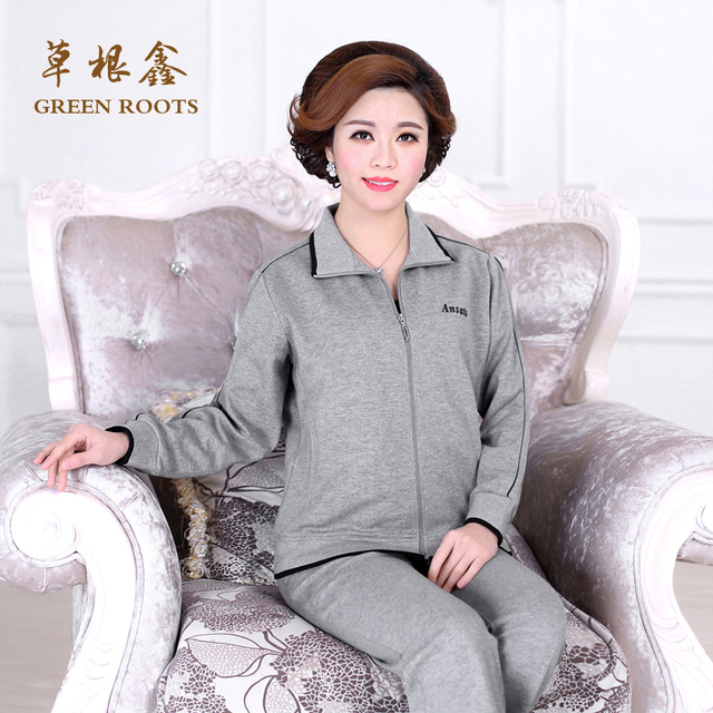 Elderly Women S Suit Large Size Cotton Loose Mother Leisure Exercise