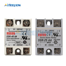 Solid State Relay SSR-25AA SSR-40AA 25A 40A AC Control AC Relais 80-280V AC TO 90-480V AC SSR 25AA 40AA