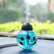 GX02-10,Small ladybug car usb Humidifier incubator diffuser led Mini Air Humidifier Air Diffuser Portable Water Aroma Mist Maker