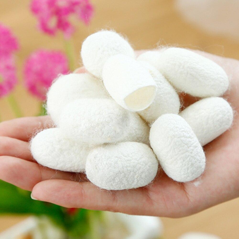 Organic Natural Silk Cocoons  Silkworm Balls Facial Skin Care Exfoliating Scrub Nose Clean Purify Blackhead Acne Remover 10pcs