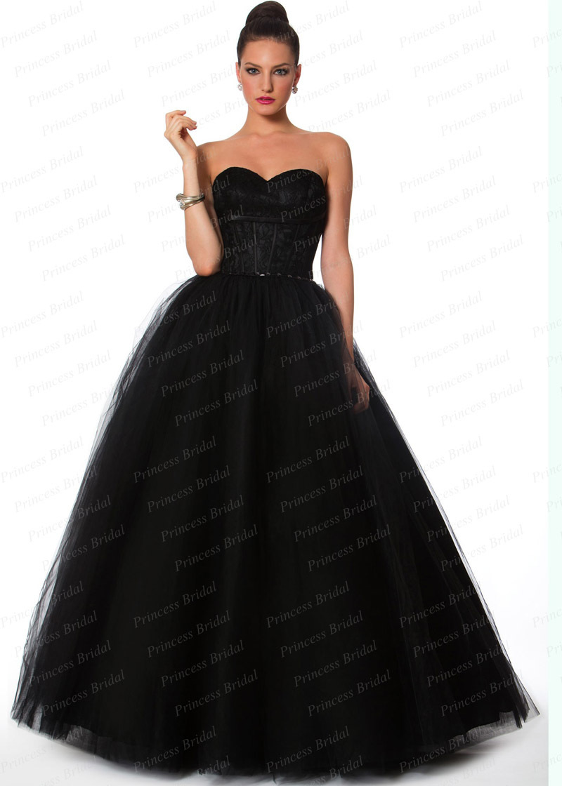 Free Shipping Puffy Sweetheart Beaded Floor Length Long