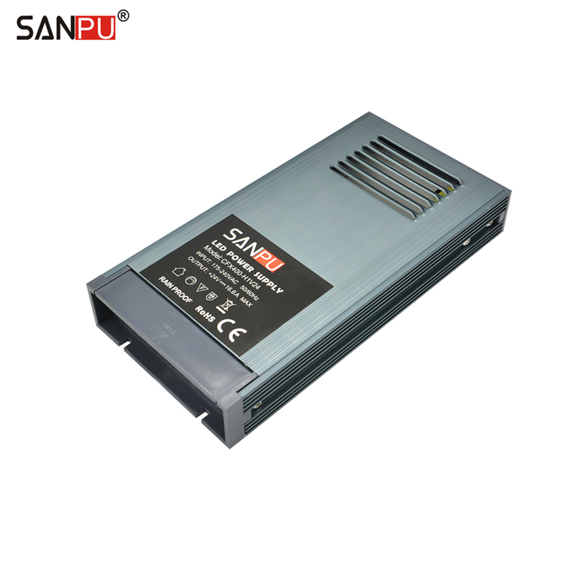 SANPU 24V Power Supply Unit 400W Rainproof IP63 Outdoor No Fan Constant Voltage 24VDC LED Driver AC220V to DC24V Transformer