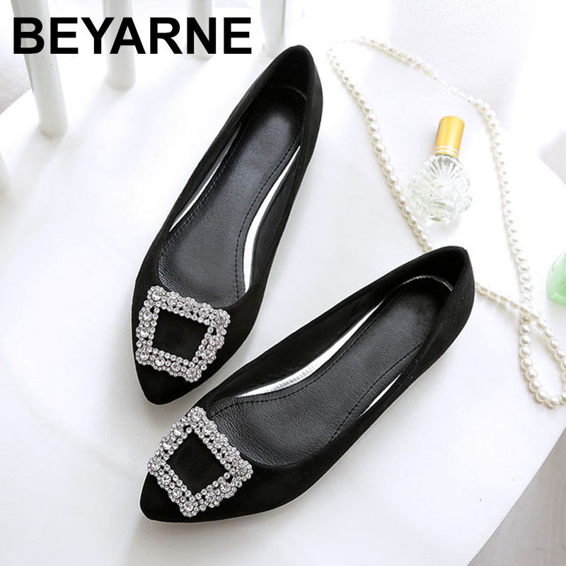 BEYARNE Spring autumn Fashion Suede womens shoes large-size flat-bottomed shoes woman pointed leisure comfortable driving shoesBEYARNE Spring autumn Fashion Suede womens shoes large-size flat-bottomed shoes woman pointed leisure comfortable driving shoes